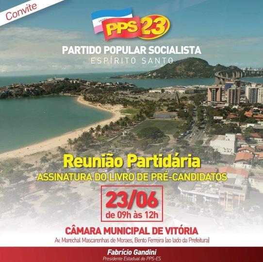 PPS-ES realiza encontro para assinatura do livro de pré-candidatos