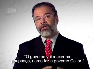 Alerta do PPS na TV sobre intenção de Lula de mexer na poupança tem grande repercussão
