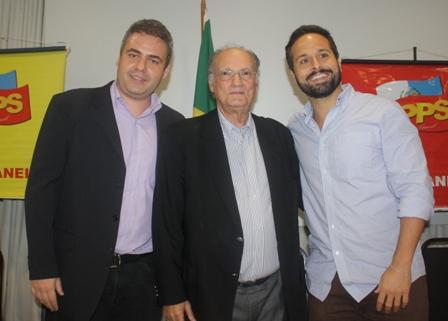 ATO DE FILIAÇÃO DE MARCELO CALERO E PAULO GONTIJO NO PPS, LOTA AUDITÓRIO NO RIO DE JANEIRO.