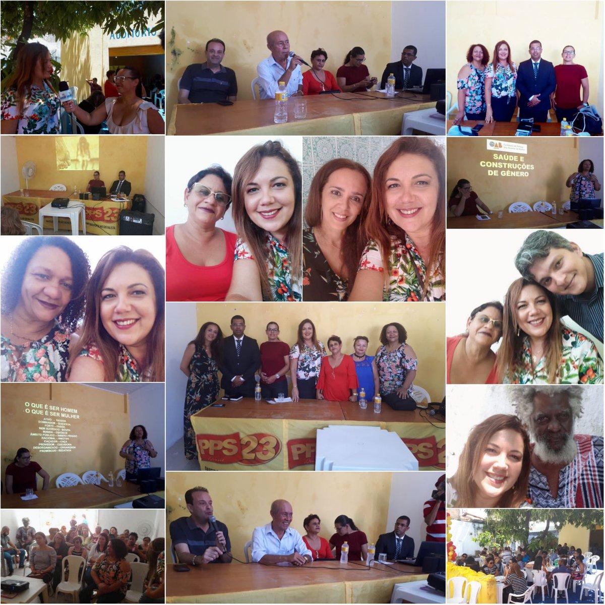 No dia de hoje (03/03/18 ) aconteceu o encontro estadual do PPS23 - Partido Popular Socialista Sergipe, Momento importante de discussão de politicas pública, da participação das mu