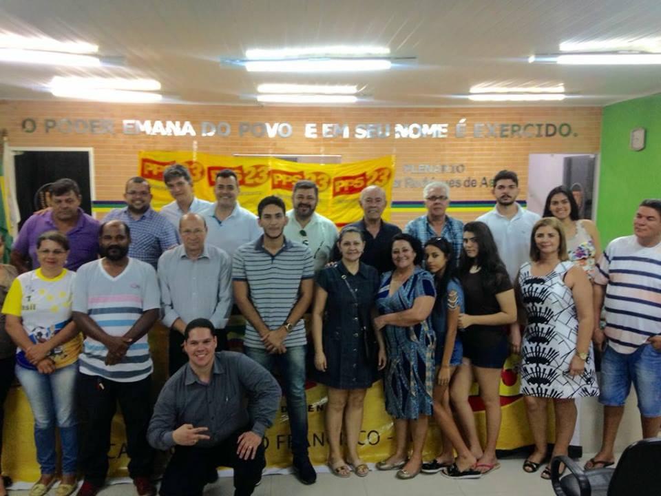 Congresso Municipal do PPS23 - Partido Popular Socialista Sergipe em Canindé do São Francisco, onde foi eleito Junior Galindo presidente para o quadriênio 2017/2021