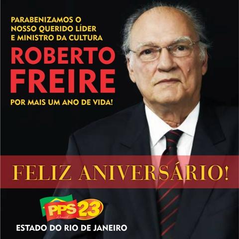 FELIZ ANIVERSÁRIO ROBERTO FREIRE
