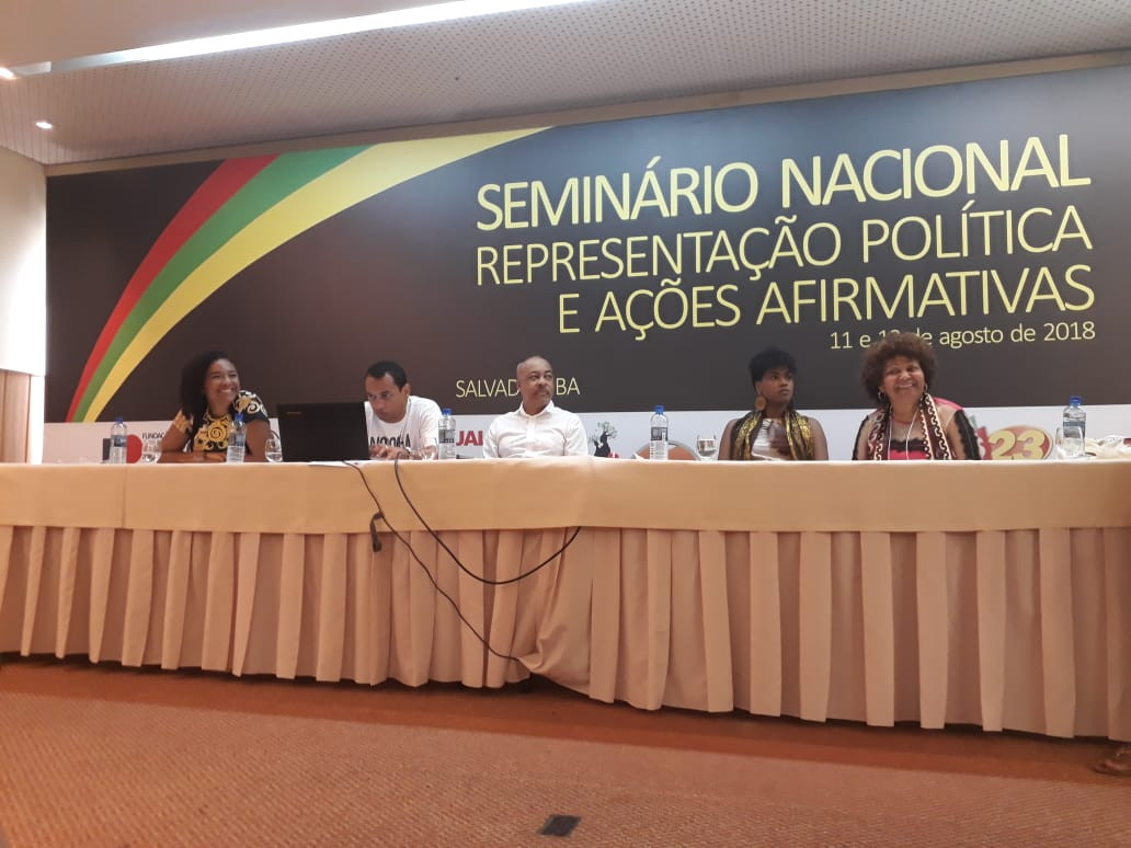 Seminário nacional reforça apoio à criação de cotas para candidaturas de negros