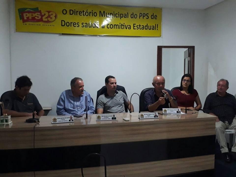A direção estadual do PPS23 - Partido Popular Socialista Sergipe, juntamente com o pré candidato a deputado federal José Carlos Machado e os pré candidatos a deputado estadual Samu