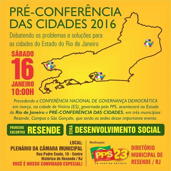 Resende terá o porimeiro encontro preparatório para Conferência de Cidades