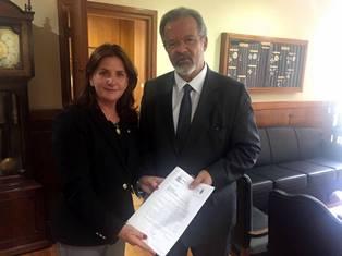 Carmen se encontra com ministro da Defesa Raul Jungmann