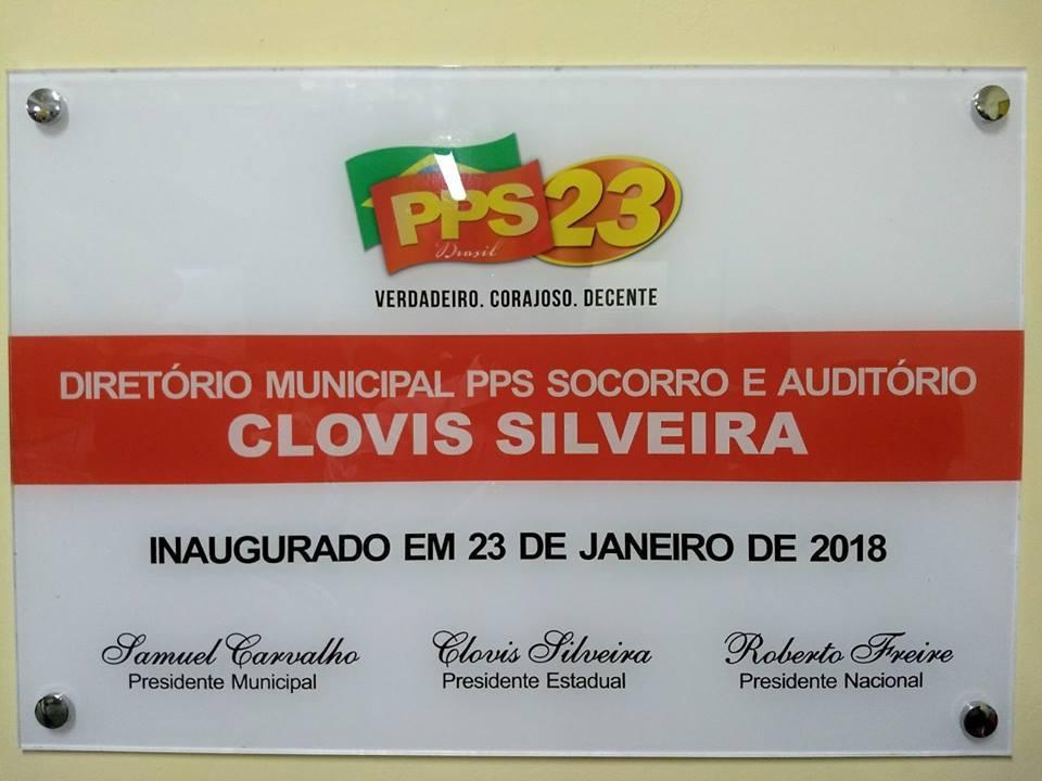 O presidente Estadual do PPS, Clovis Silveira foi homenageado quando da inauguração da sede do PPS de Socorro e do auditório que recebeu o seu nome!