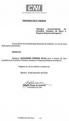 ALEXANDRE PEREIRA ENCERRA 2018 COM MAIS UMA HONRA RECEBIDA