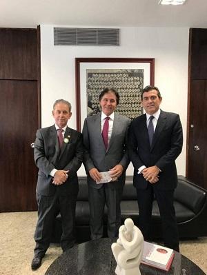Em Brasília Alexandre Pereira é recebido pelo Presidente do Senado