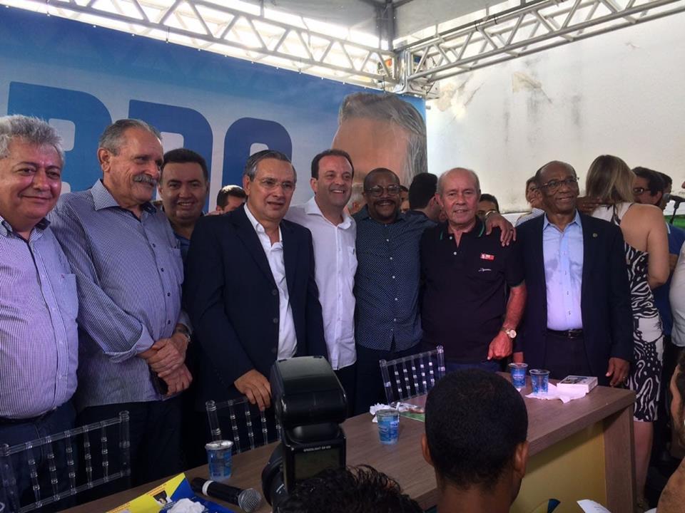 Participamos, nesta sextá feira (18), do lançamento da chapa majoritária da oposição, que tem o Eduardo Amorim como pré-candidato a governador, e o deputado Andre Moura senado