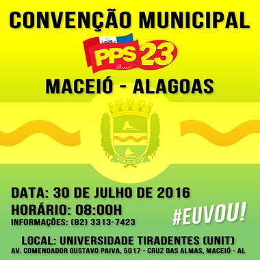 Edital da Convenção Eleitoral do PPS MACEIÓ